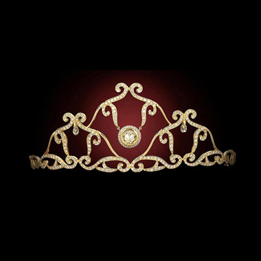 DIAMOND CELTIC SWIRL TIARA