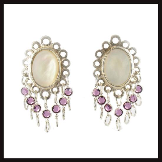 East of Paris Fleur Crystal Drop Earrings