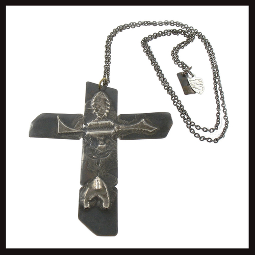 Ethnic Punk Mangled Man Cross Pendant