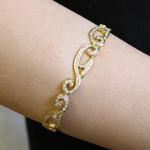 Diamond and Gold Eos Bracelet