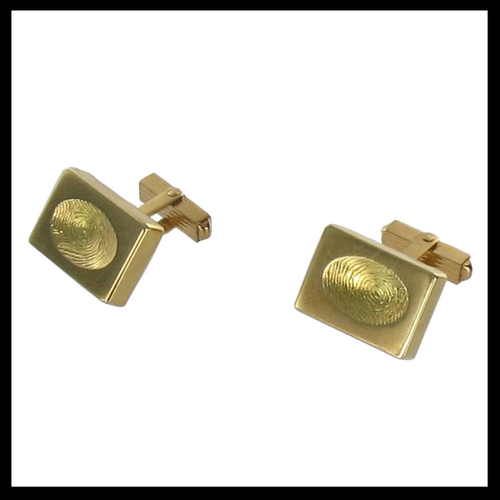 Gold Custom Thumbprint Cufflinks