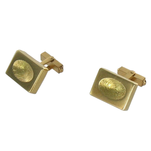 Gold Custom Thumbprint Cufflinks