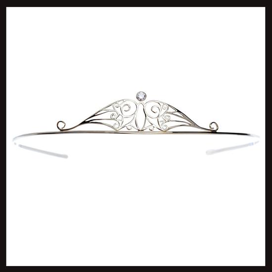 Celtic Nouveau Diamond and Gold Anu Tiara