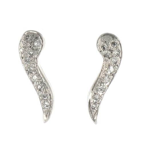 Large Pavé Diamond Angel Wing Studs