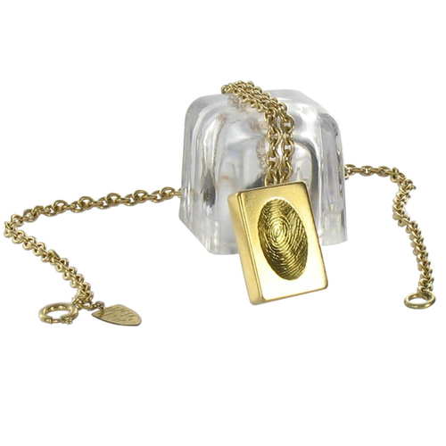 Gold Custom Thumbprint Pendant