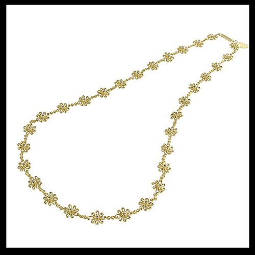 Gold Diamond Snowflake Necklace