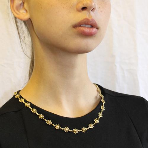 Gold Diamond Snowflake Necklace