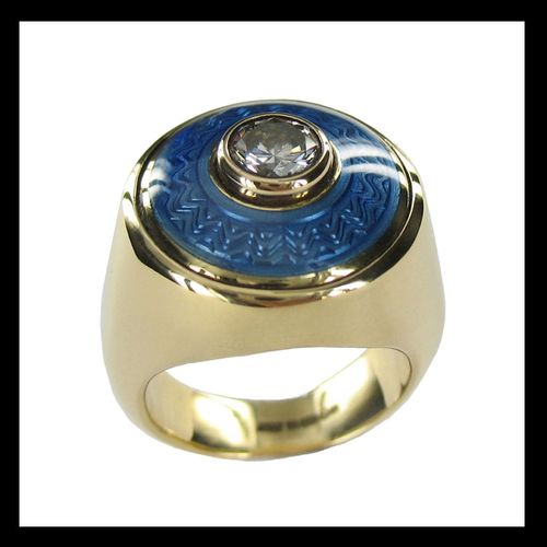 Diamond and Enamel Dress Ring