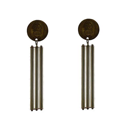 Regal Top Glass Line Earrings