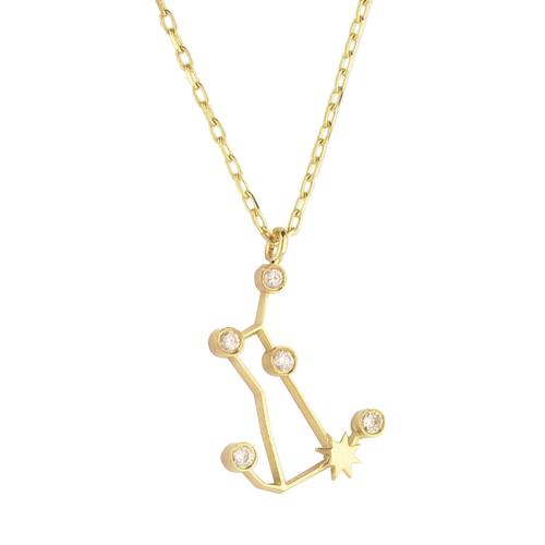 Gold Gemini Diamond Necklace