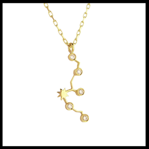 Gold Aquarius Diamond Necklace