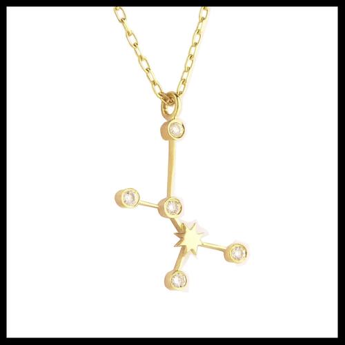 Gold Sagittarius Diamond Necklace