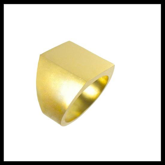 Celtic Nouveau Gold Signet Ring