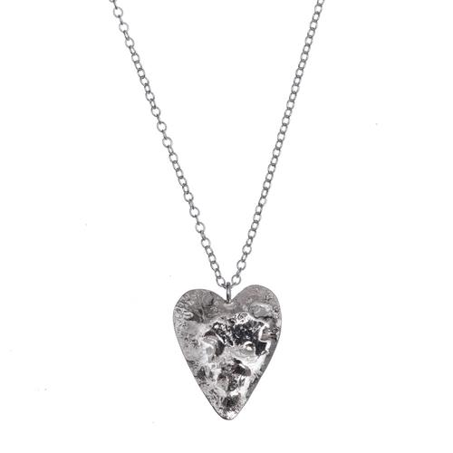 Small Textured Heart Pendant
