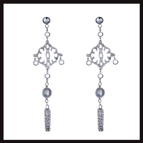 East of Paris Pearl Chandelier Earrings