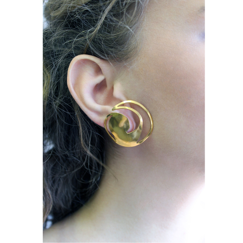Celtic Nouveau Cut Swirl Earrings