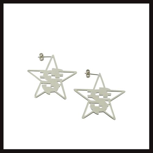 Quest Logo Star Stud Earrings