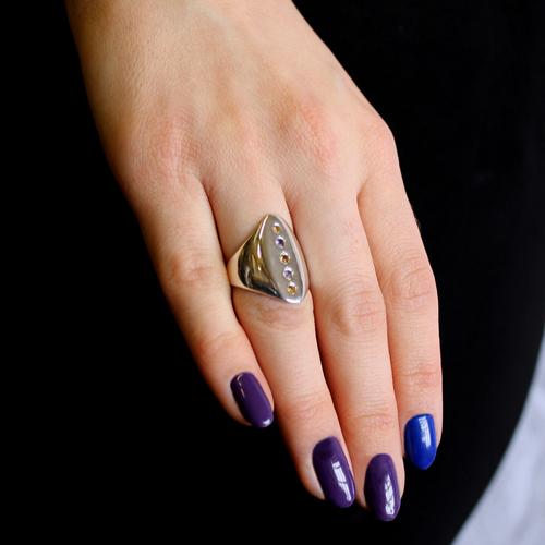 Celtic Nouveau Pavé Axe Ring