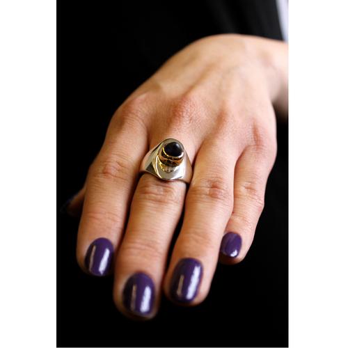 Celtic Nouveau Bullet Axe Ring